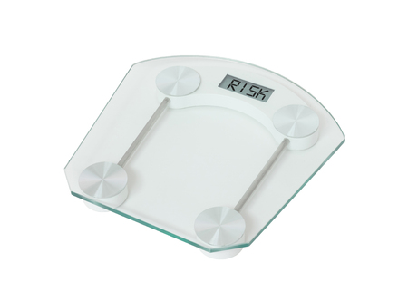 Weight scale isolated on a white background - Risk