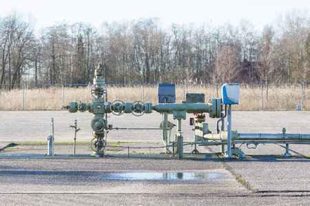 Pumping gas out of the ground - Gas pump - Industry