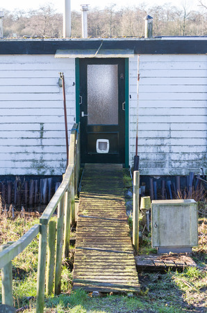 Houseboat in need of some maintenance - The Netherlands Stock Photo