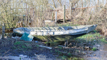 Old boat in the Netherlands - Waiting to be used again