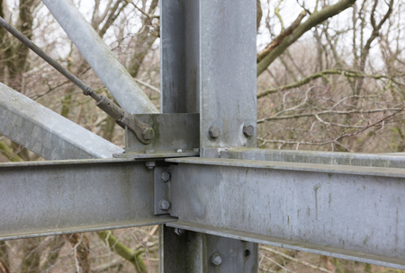 Simple metal construction of a small tower Stock Photo