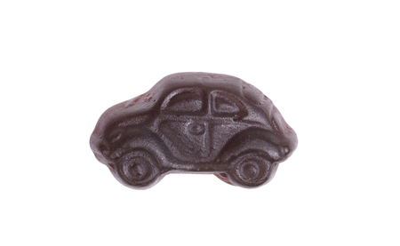 Dutch candy in the form of a car - Isolated on white