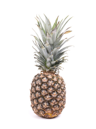 Big pineapple isolated on a white background Stock Photo