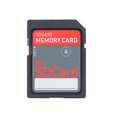 SD Memory card isolated on white background - 4gb