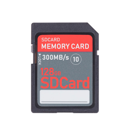 SD Memory card isolated on white background - 128gb