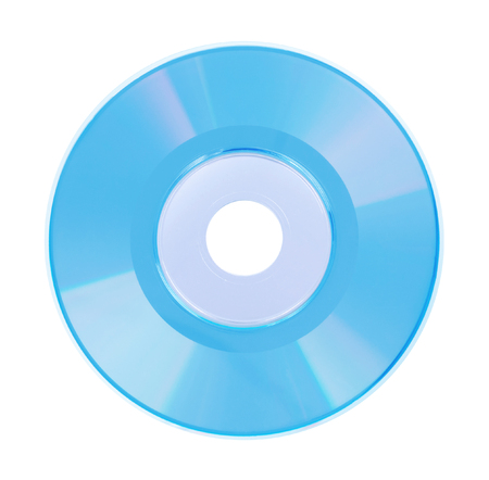 Mini CD or DVD isolated on a  white background