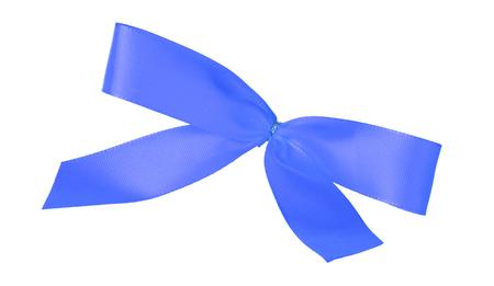 Award ribbon isolated on a white background, blue Stock Photo