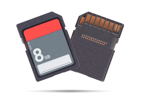 SD Memory card isolated on white background - 8 Gigabyte Reklamní fotografie