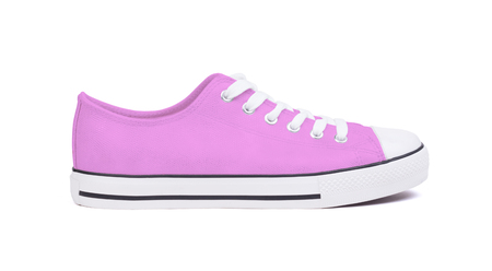 New sneaker shoe, isolated on a white background - Purple