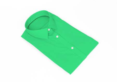 Green man shirt on white background - New and folded