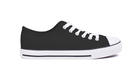 New sneaker shoe, isolated on a white background - Black