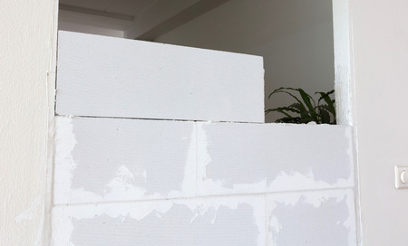 Building a small wall with lightweight concrete blocks - Do it yourself