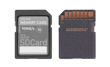 SD Memory card isolated on white background - 32 Gigabyte