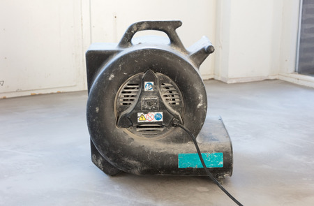 Large blower for drying a floor, indoor Stock Photo