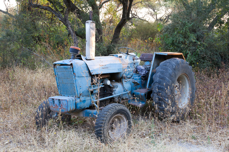 Ancient Icelandic tractor, retro agriculture machinery, Botswana