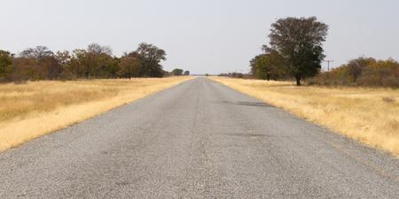 Ashpalt road in Botswana, smooth without potholes