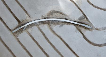 Milling in concrete floor - Preparation for underfloor heating