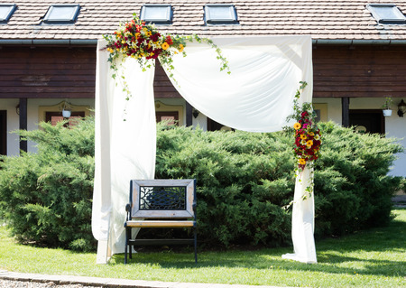 Wedding arch waiting fot the bride and groom in Romania