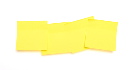 Yellow sticky notes isolated on a white background