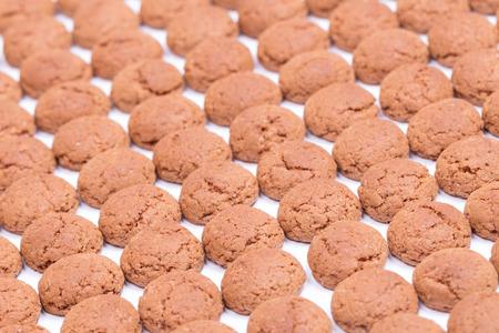 Dutch candy called Pepernoten for the Dutch Sinterklaas fest on december the 5th Stockfoto