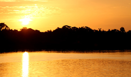 Sunset over the Gambia river, the gambia