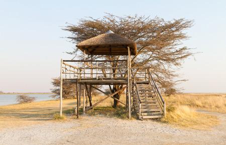Watch tower in the Makgadikgadi pans - Botswana