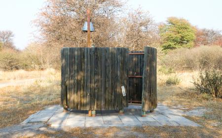 Bucket shower on a campsite in the Kalahari - Botswana
