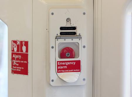 Emergency alarm button, London metro, push the button