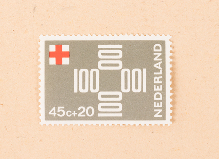 THE NETHERLANDS 1980: A stamp printed in the Netherlands shows the Red Cross in the Netherlands, circa 1980