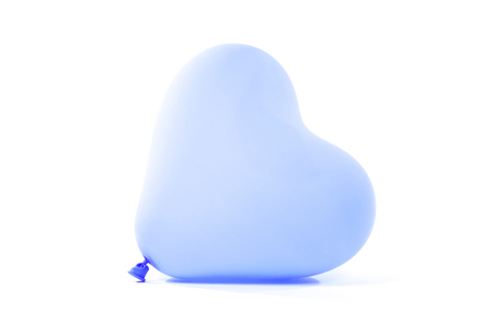 Blue baloon heart, isolated on white background Stock fotó