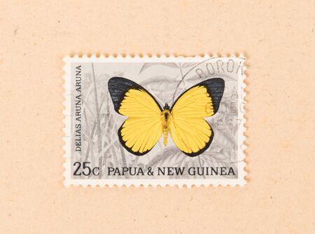 PAPUA NEW GUINEA - CIRCA 1980: A stamp printed in Papua New Guinea shows a butterfly, circa 1980