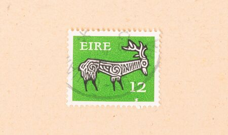 IRELAND - CIRCA 1980: A stamp printed in Ireland shows a drawing of an animal, circa 1980