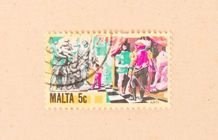 MALTA - CIRCA 1980: A stamp printed in Malta shows a historical scene, circa 1980