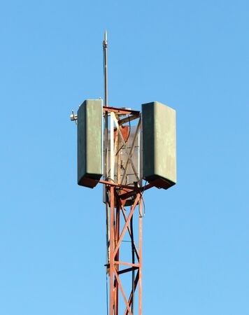 Cellphone communication tower with microwave link, Madagascar