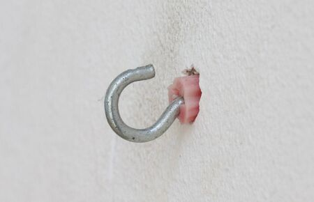 Plastic expansion wall plug with a hook Banco de Imagens