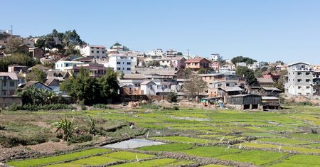 View of Antananarivo, capital city of Madagascar 版權商用圖片