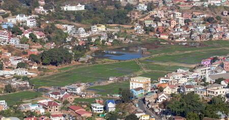 Aerial view of Antananarivo, capital city of Madagascar