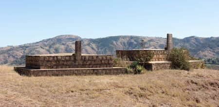 Traditional tomb in the south of Madagascar Zdjęcie Seryjne