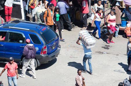 Antananarivo, Madagascar - August 5, 2019: Busy streets during a typical weekday in Antananarivo, Madagascar