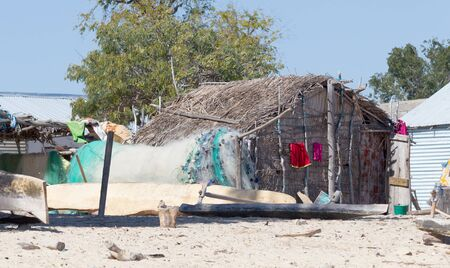 Typical malgasy hut, simple and small - Madagascar