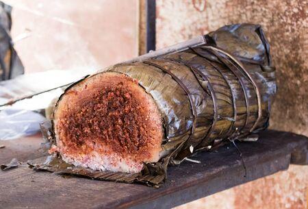Koba, the national streetfood of Madagascar 스톡 콘텐츠