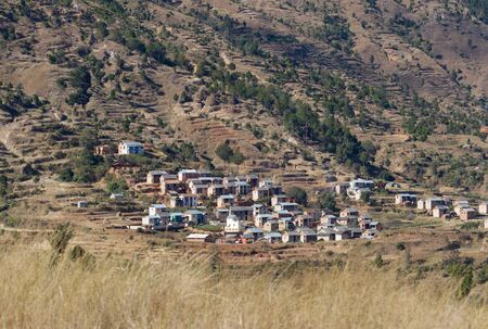 Village and landscape of Madagascar, somewhere between Andasibe and Antsirabe