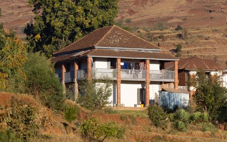 Old house in the Malagasy landscape, Africa