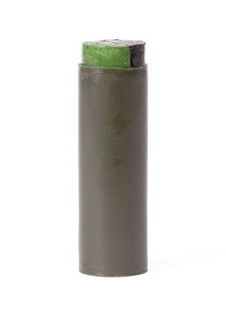 Camouflage paint, stick, ready to camouflage a soldier, isolated