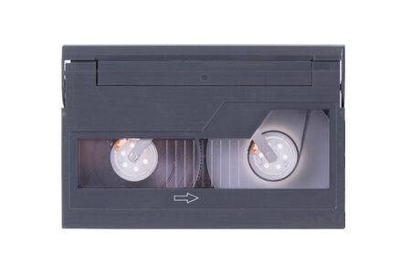 Old Video-8 cassette tape, isolated on white background