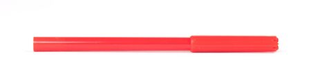 Red felt-tip pen isolated on white background