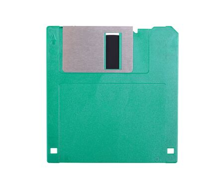 Floppy disk drive isolated on a white background