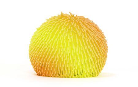 Virus like soft rubber ball isolated on white background