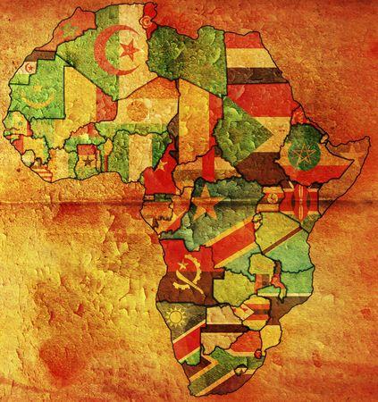 cartina africa: mappa politica Africa Archivio Fotografico