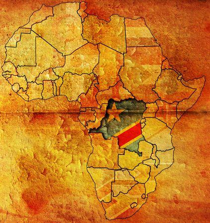 democratic: democratic republic of congo of africa map
